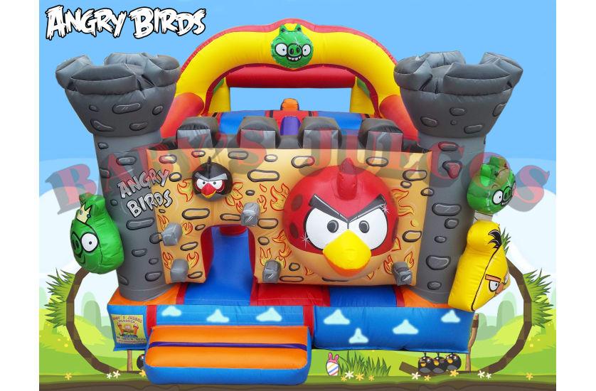 CM-17 Castillo Angry Birds con tobogán interno